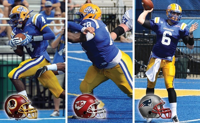 Three Chargers Earn Nfl Opportunities University Of New Haven