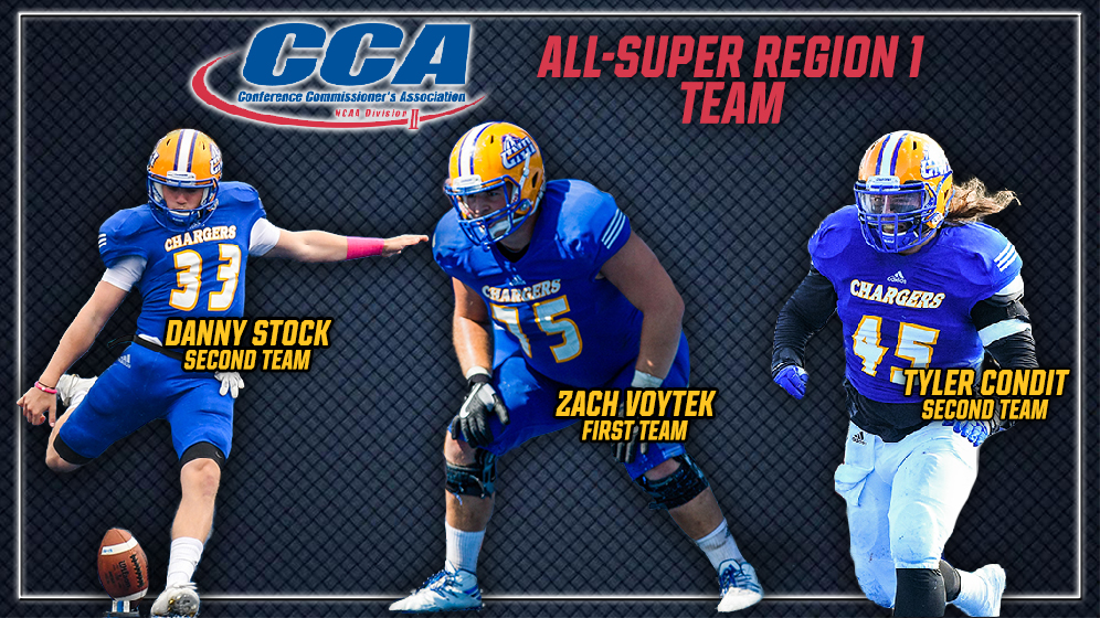 Football Trio Named All Super Region 1 By Division Ii Conference
